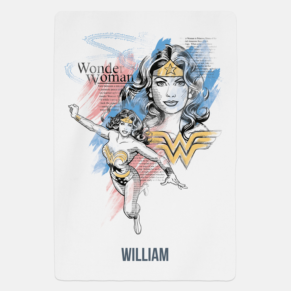 Wonder Woman™ A New World Personalised Fleece Blanket