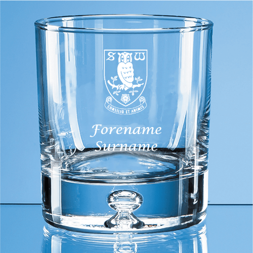 Sheffield Wednesday FC Crest Bubble Base Whisky Tumbler