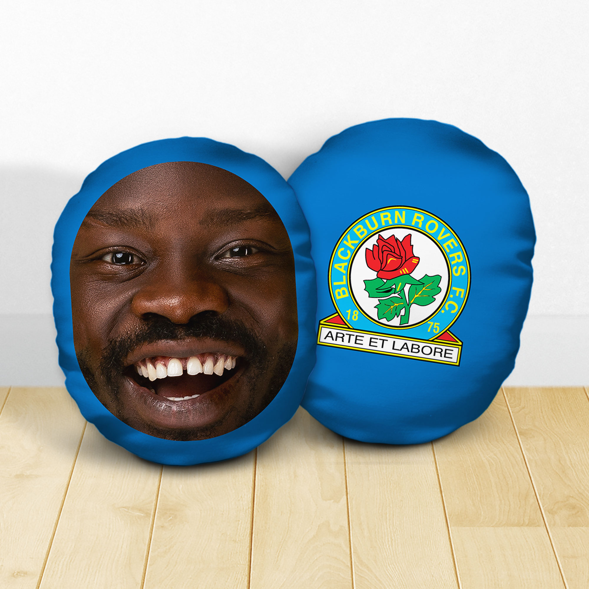 Personalised Blackburn Rovers FC Crest Mush Cush