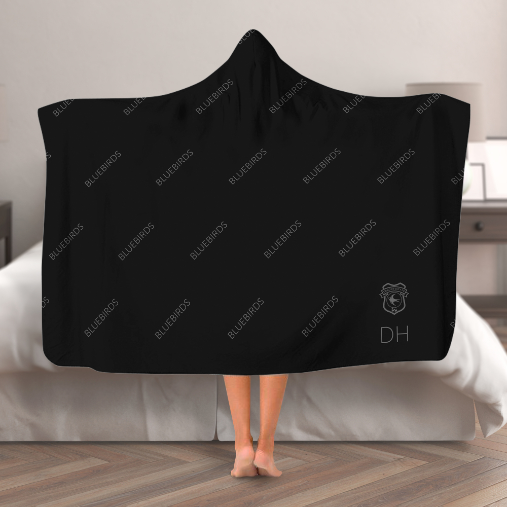 Cardiff City FC Pattern Hooded Blanket (Adult)