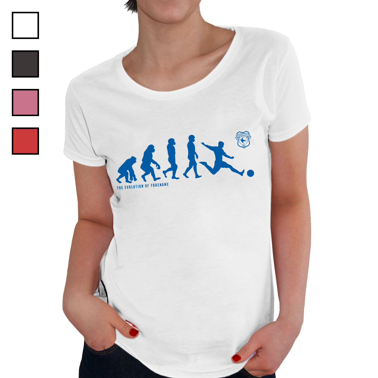 Cardiff City Evolution Ladies T-Shirt