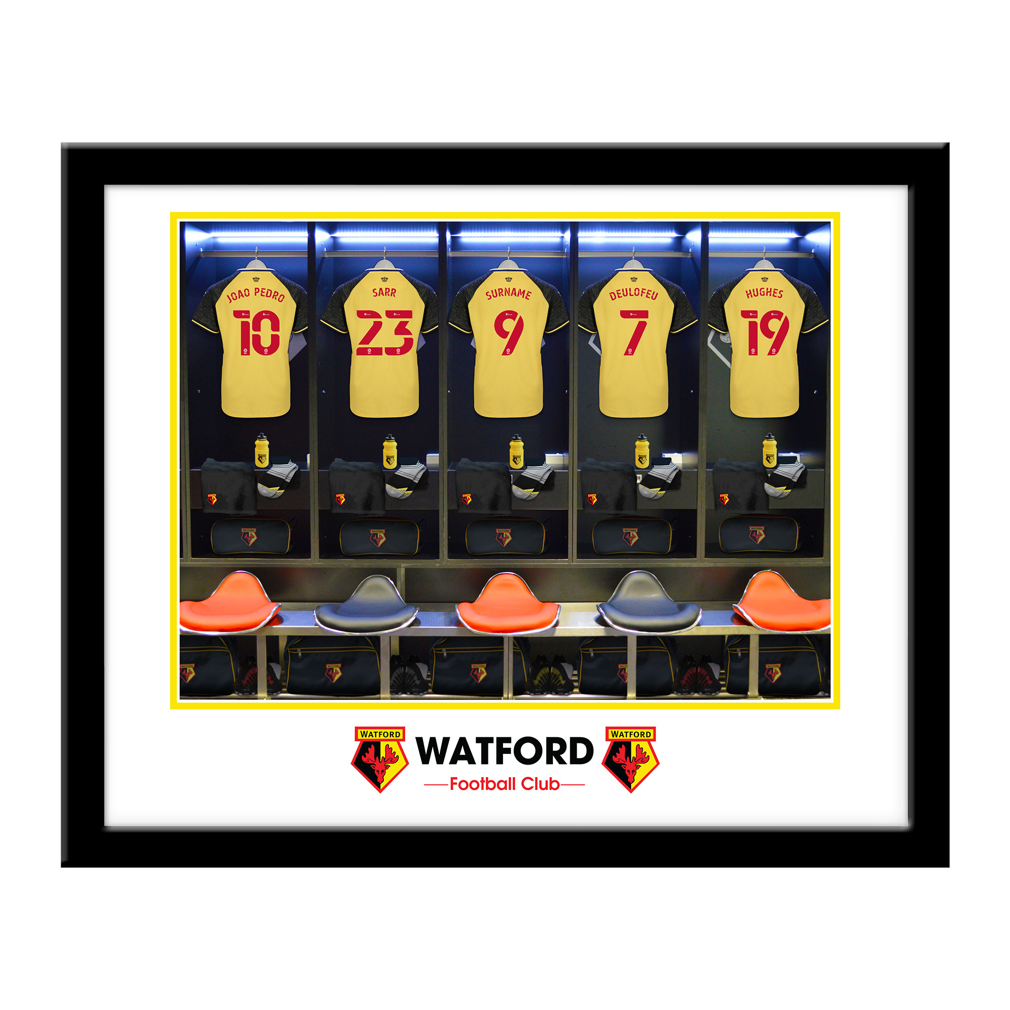 Watford FC Dressing Room Framed Print