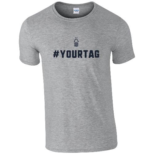 Nottingham Forest FC Crest Hashtag T-Shirt