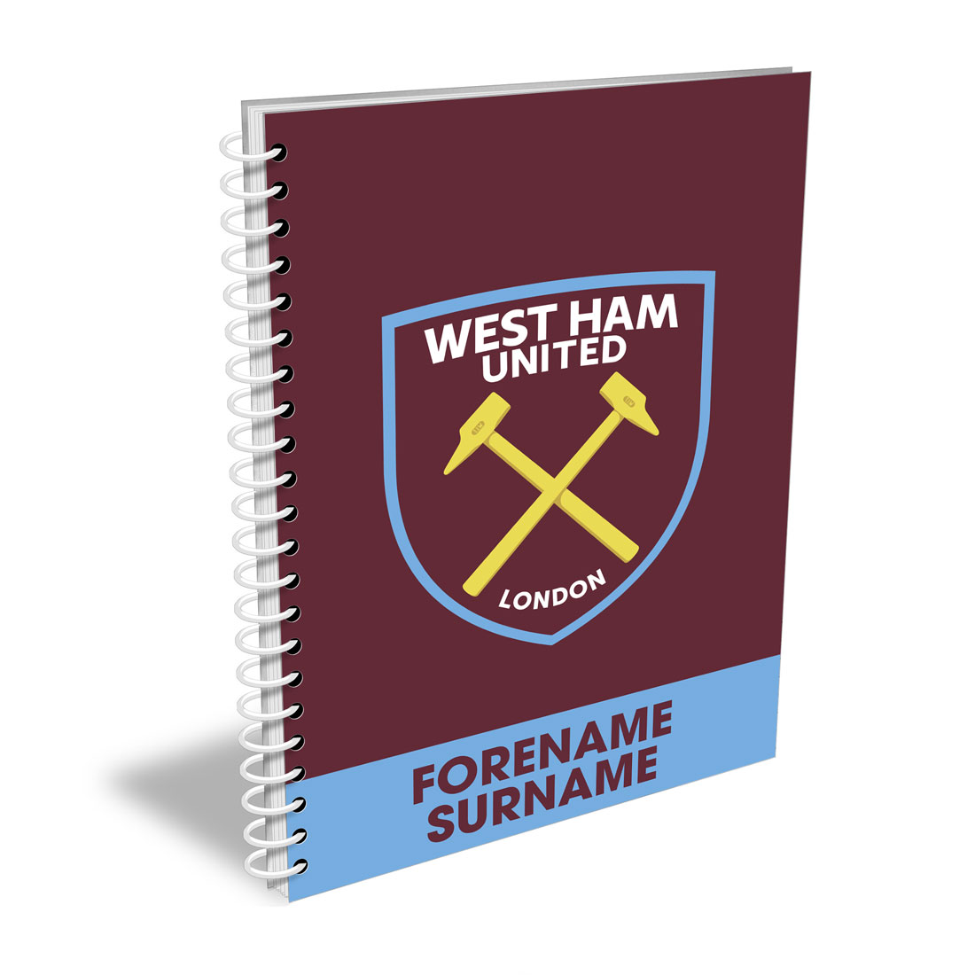 West Ham United FC Bold Crest Notebook