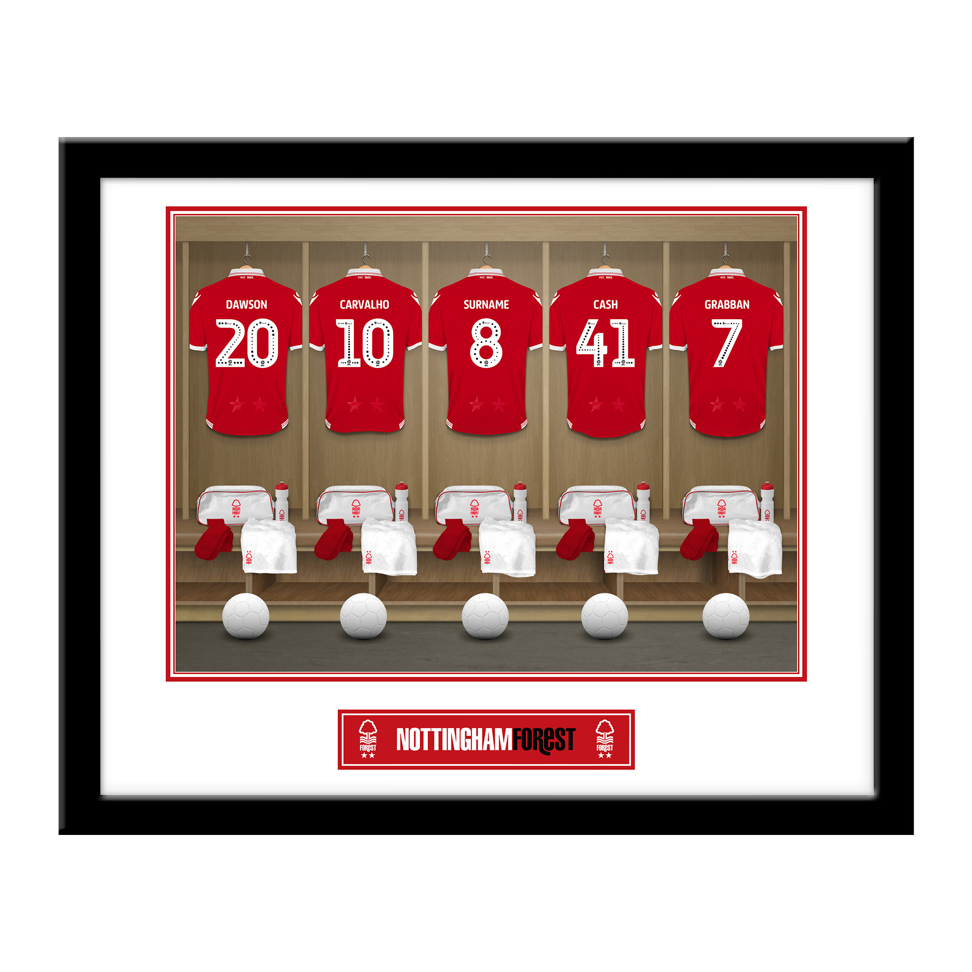 Nottingham Forest FC Dressing Room Framed Print