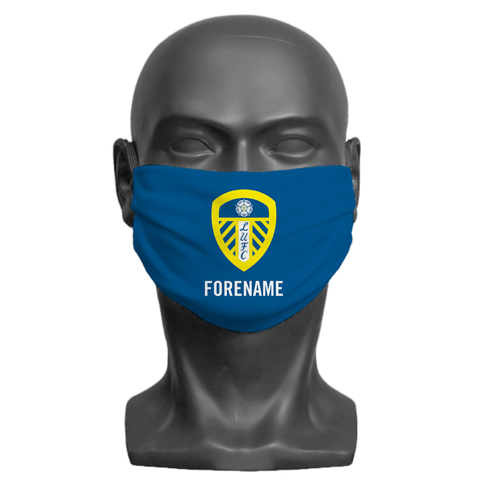Leeds United FC Crest Adult Face Mask (Large)