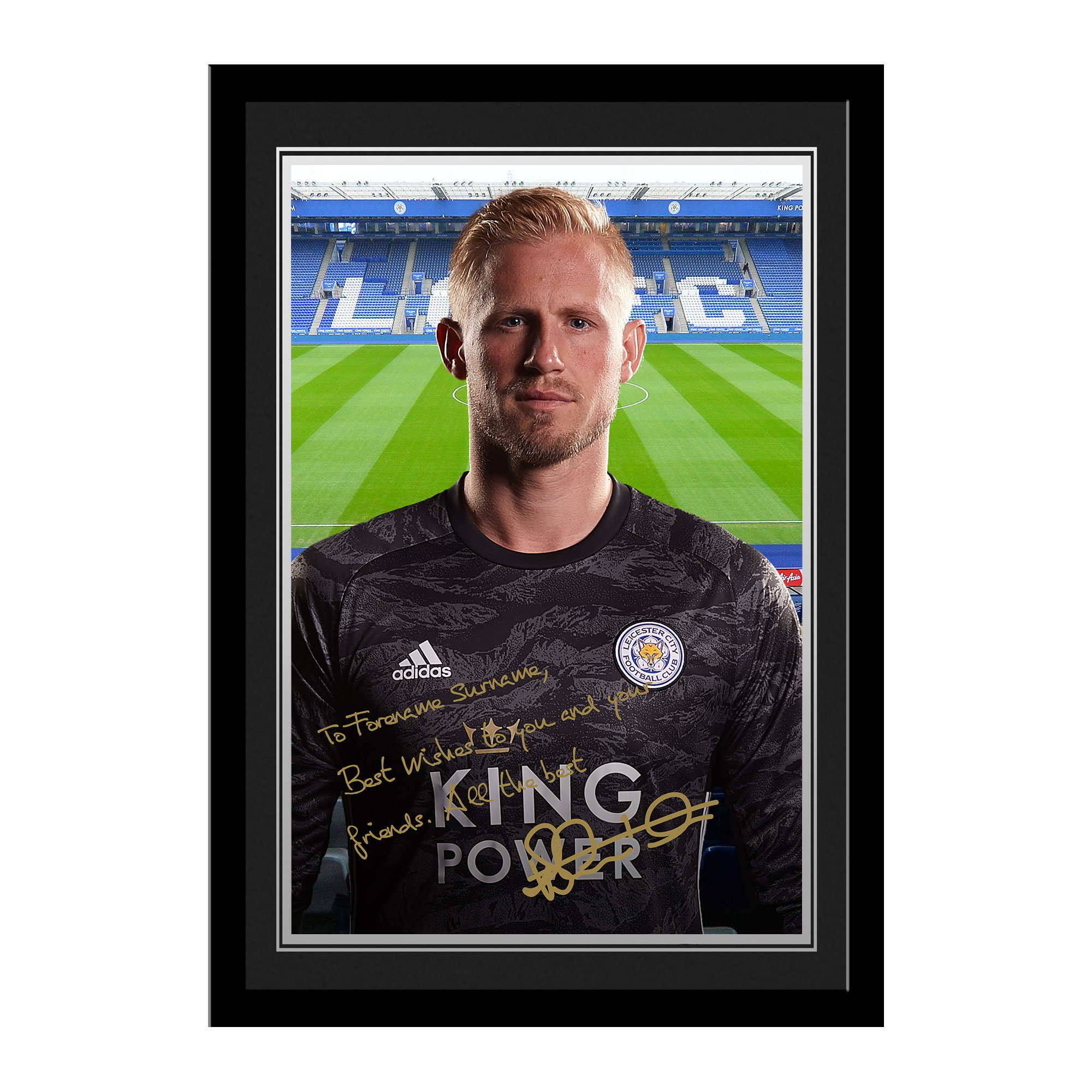 Leicester City FC Schmeichel Autograph Photo Framed