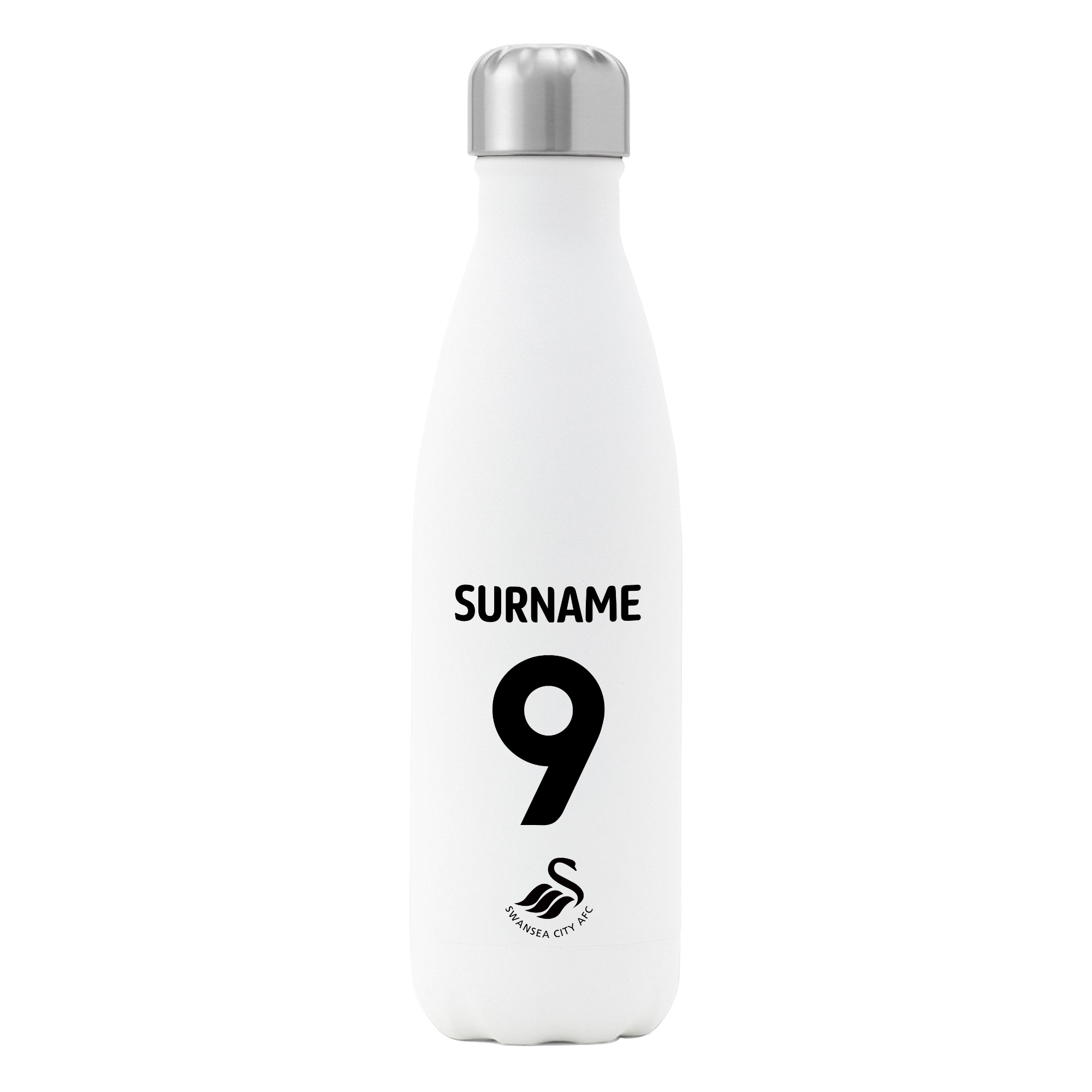 Swansea City AFC Back of Shirt Insulated Water Bottle - White