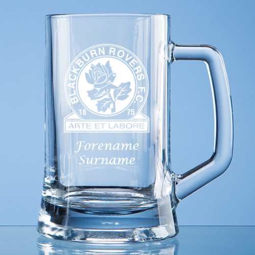 Blackburn Rovers FC Crest Small Plain Straight Sided Tankard