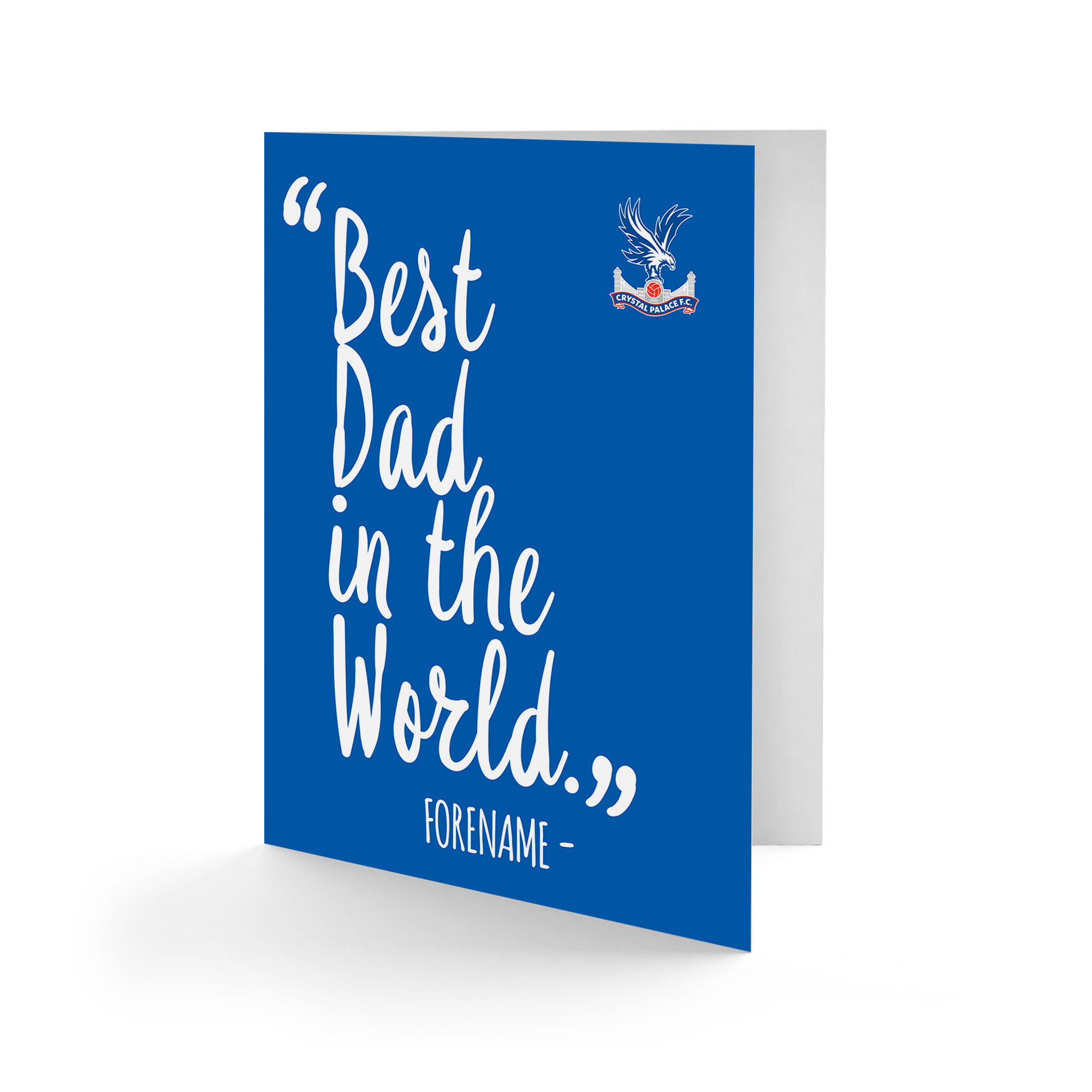Crystal Palace FC Best Dad In The World Card
