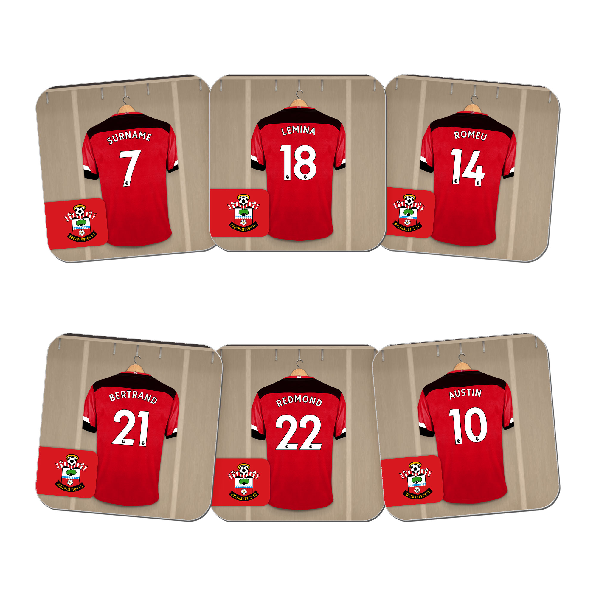 Southampton FC Dressing Room Coasters
