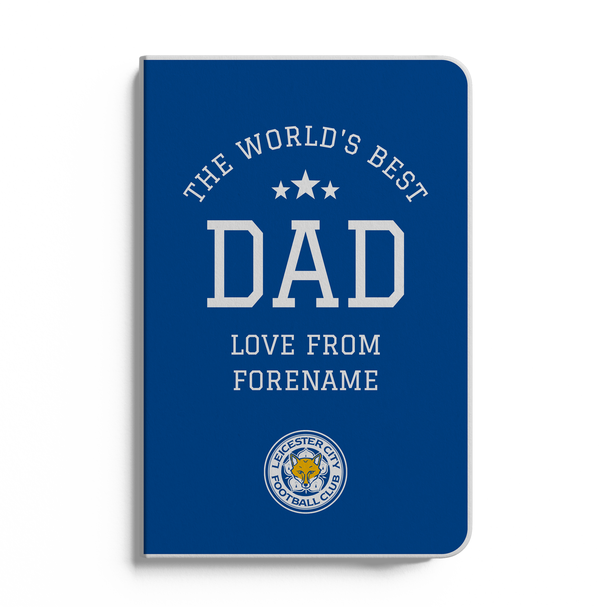 Leicester City FC World's Best Dad A5 White Lined Notebook
