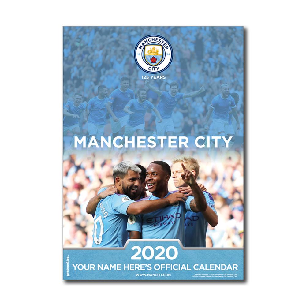 Manchester City Football Club Personalised 2020 Calendar
