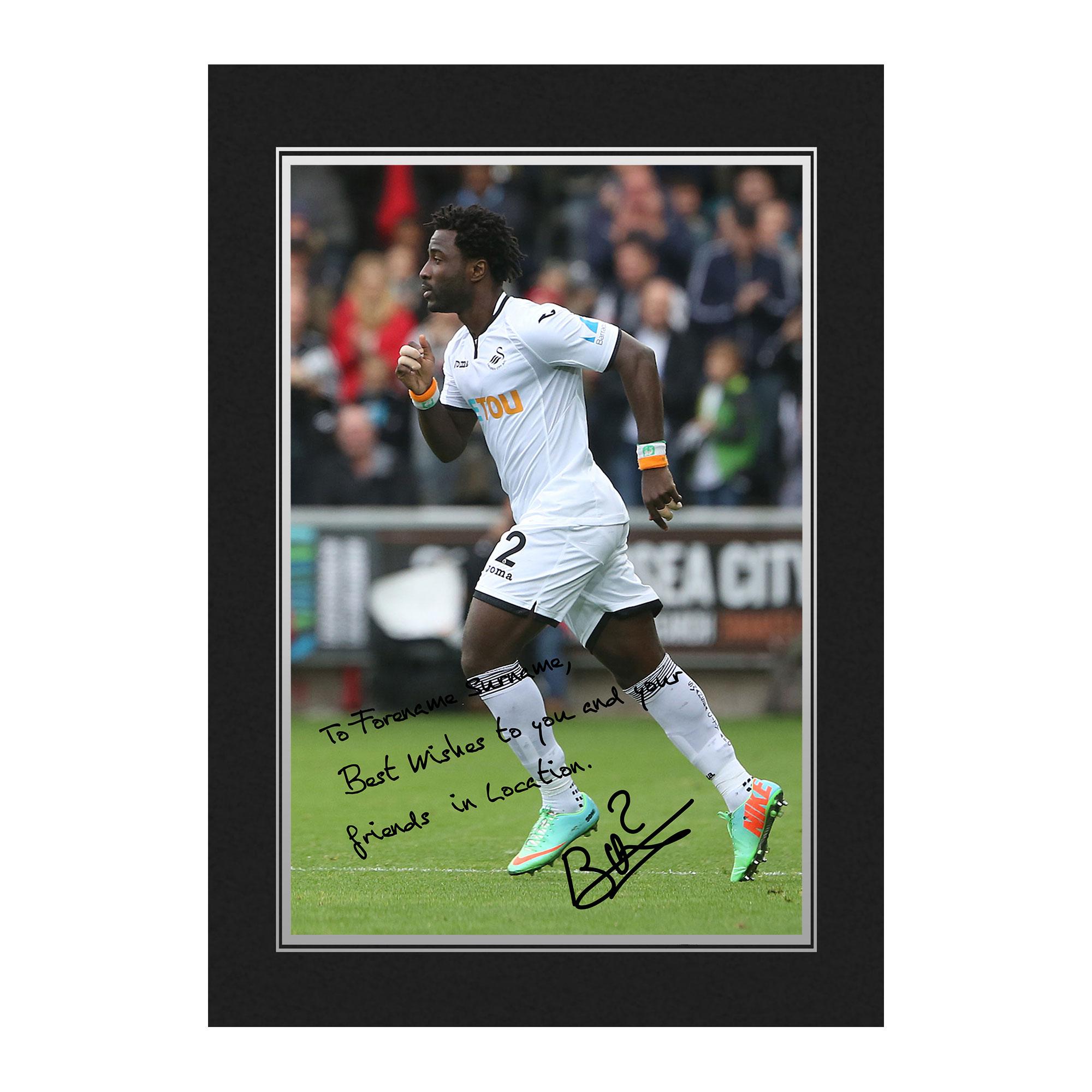 Swansea City AFC Bony Autograph Photo Folder