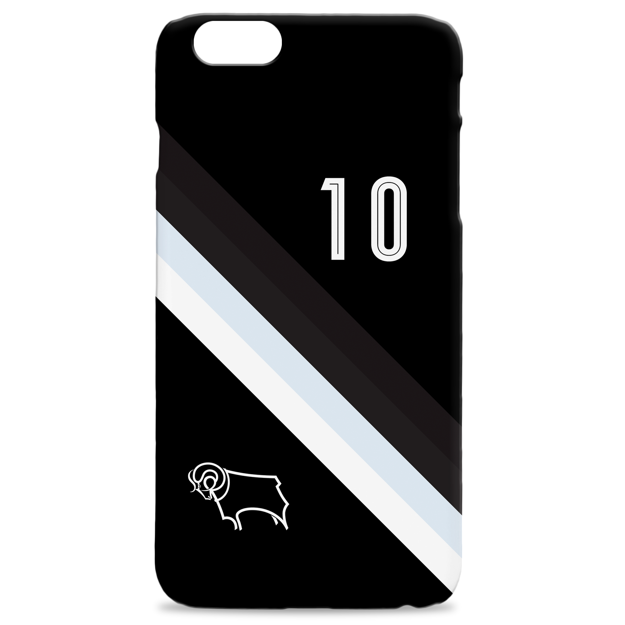 Derby County Stripe Hard Back Phone Case