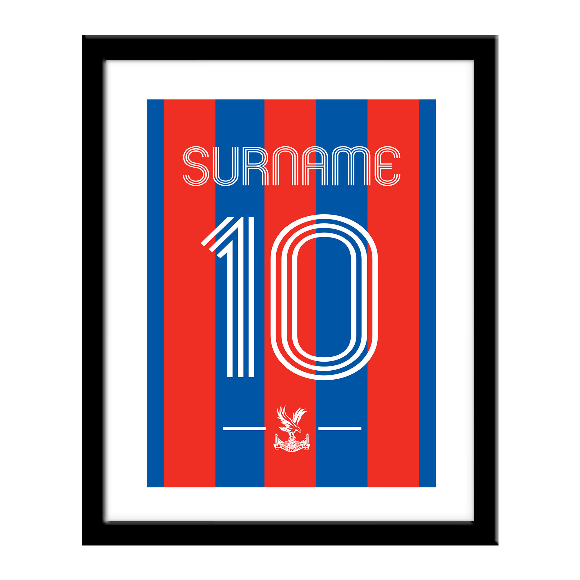 Crystal Palace FC Retro Shirt Print