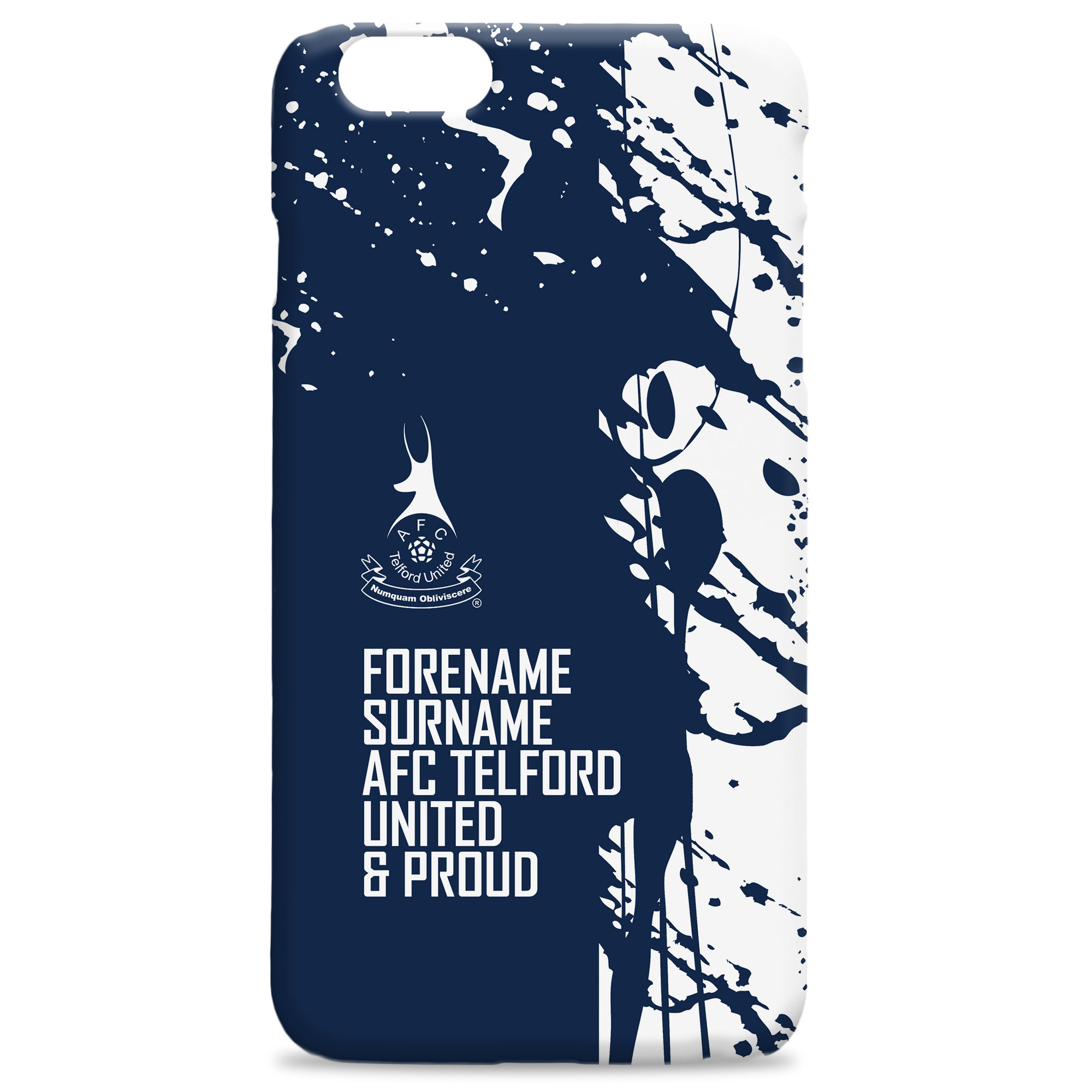 AFC Telford United Proud Hard Back Phone Case