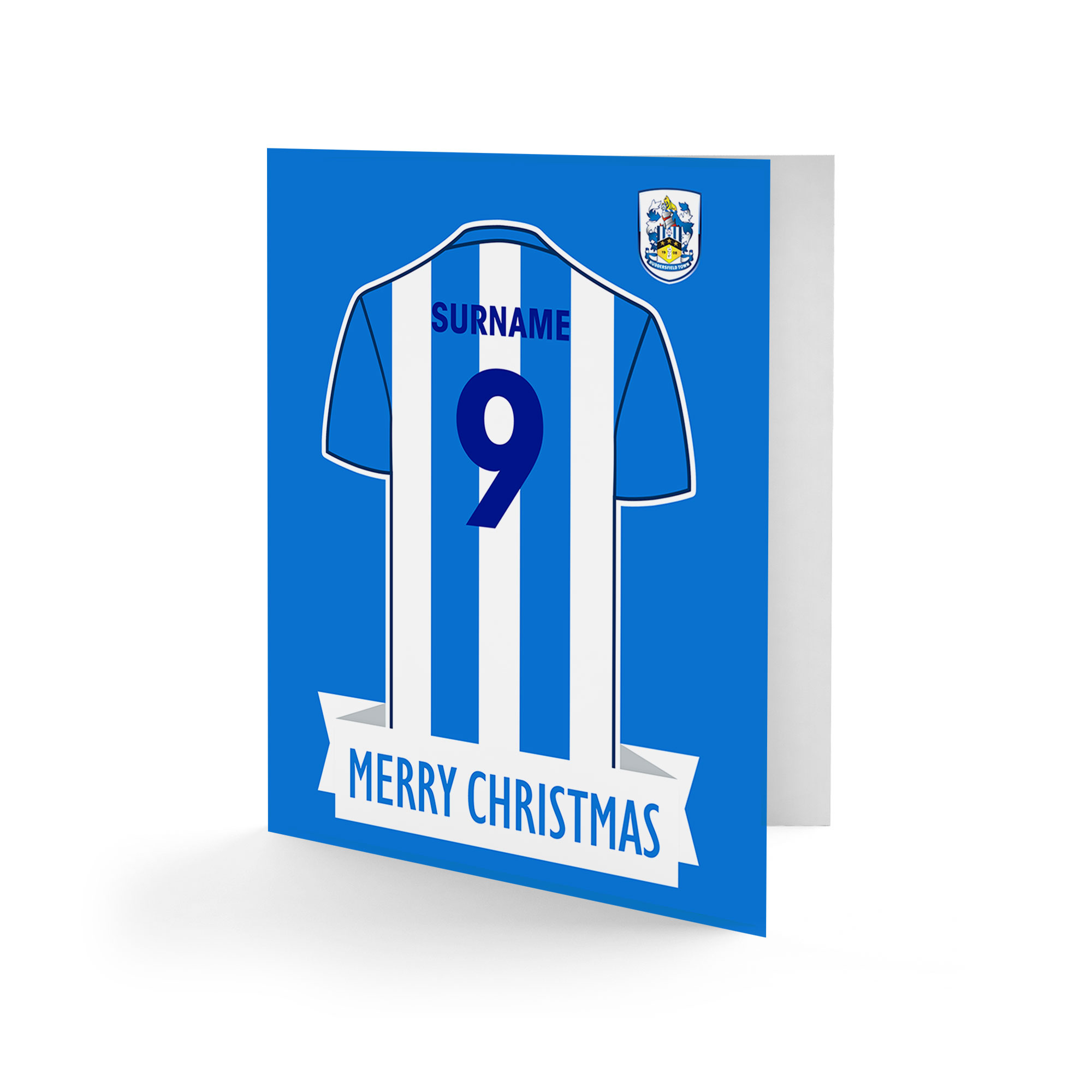 Huddersfield Town Shirt Christmas Card