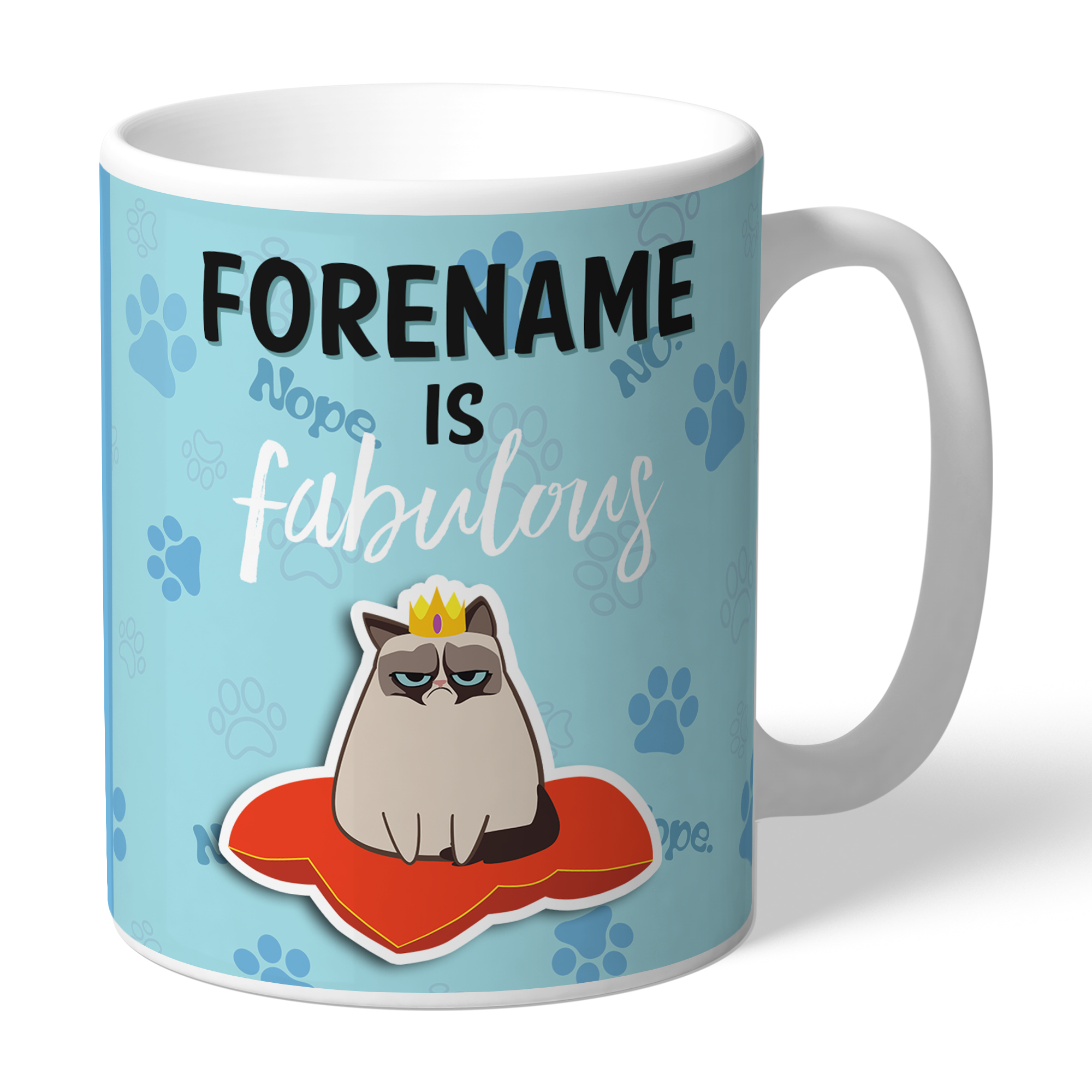 Grumpy Cat Emoji - Fabulous Mug Blue