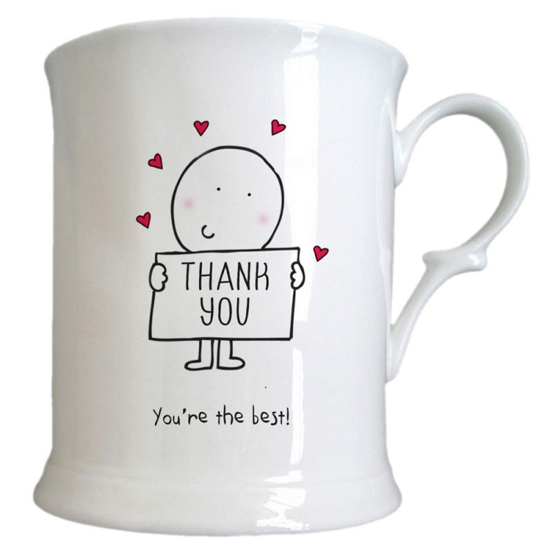 Chilli & Bubble's Thank You Half Pint Tankard