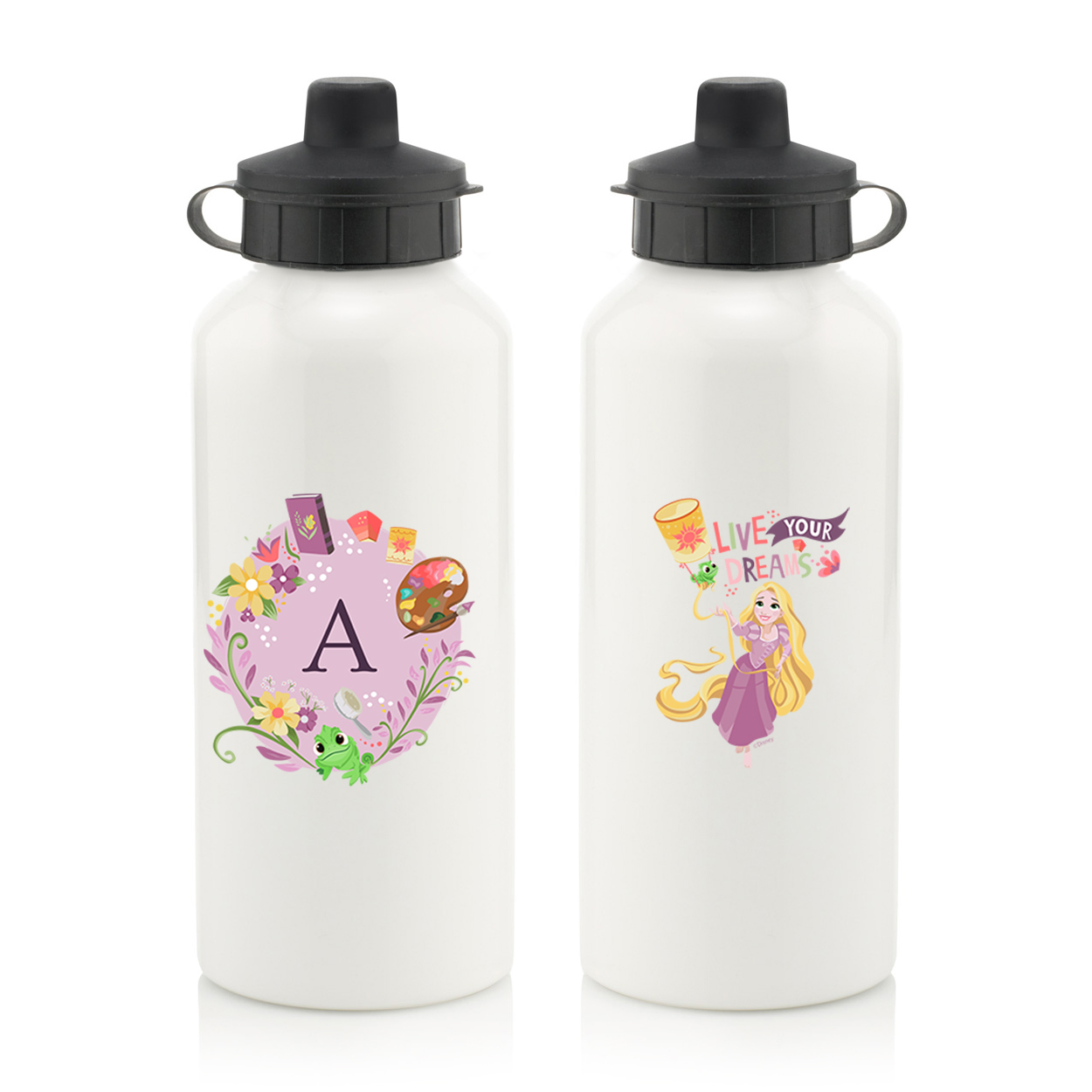 Disney Princess Rapunzel Initial Water Bottle
