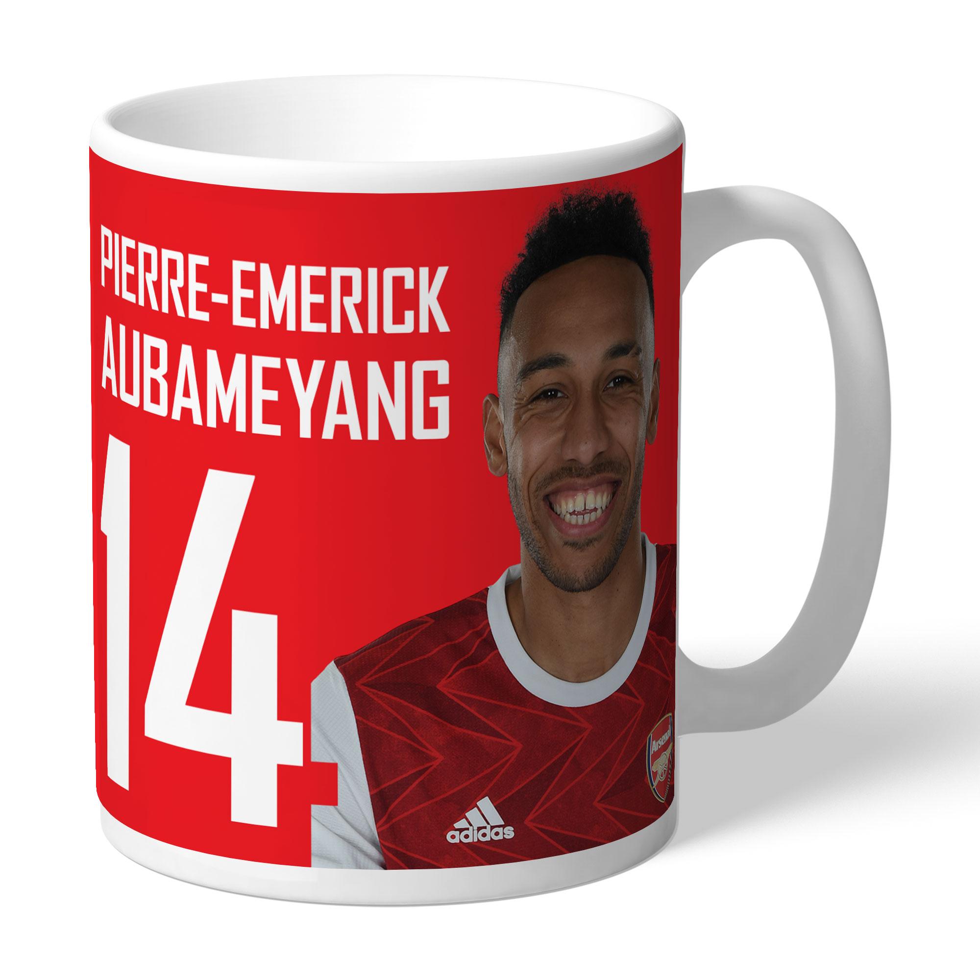 Arsenal FC Aubameyang Autograph Mug