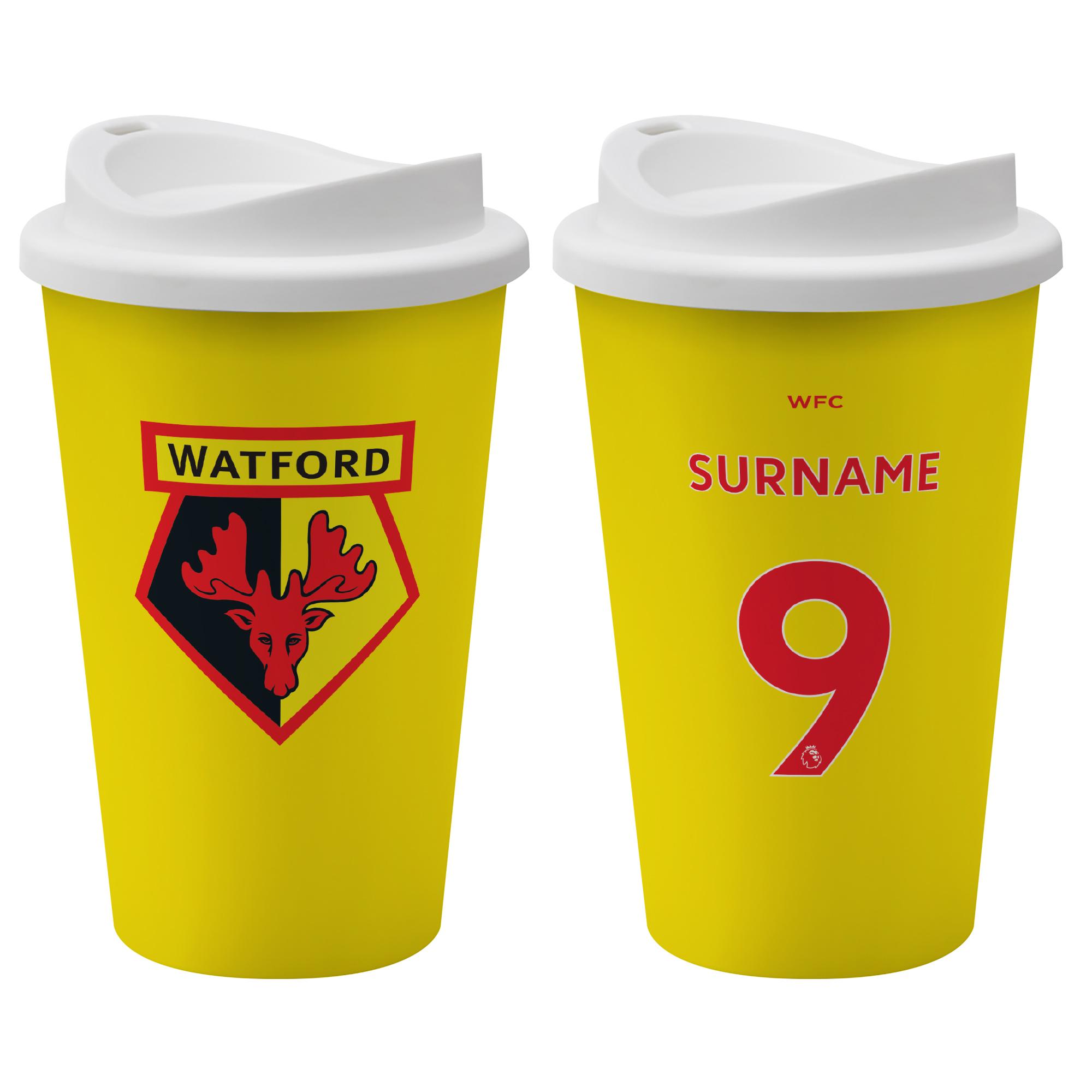 Watford FC Back of Shirt Reusable Cup