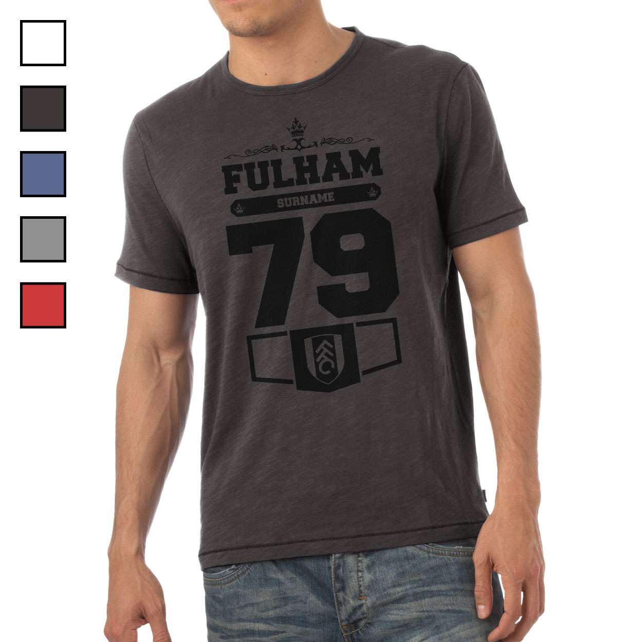 Fulham FC Mens Club T-Shirt