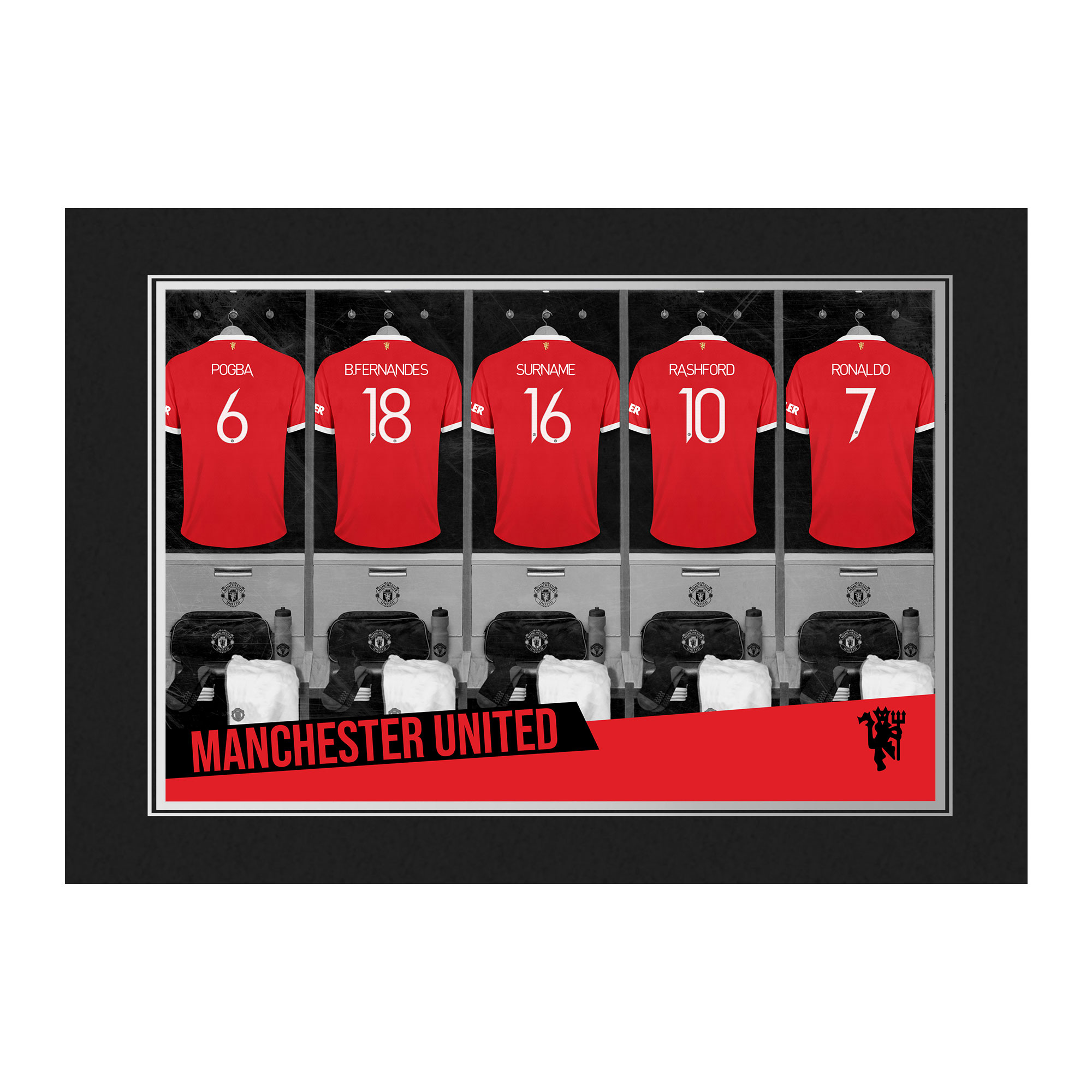Manchester United FC 9x6 Dressing Room Photo Folder
