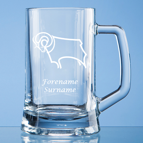 Derby County Crest Small Plain Straight Sided Tankard