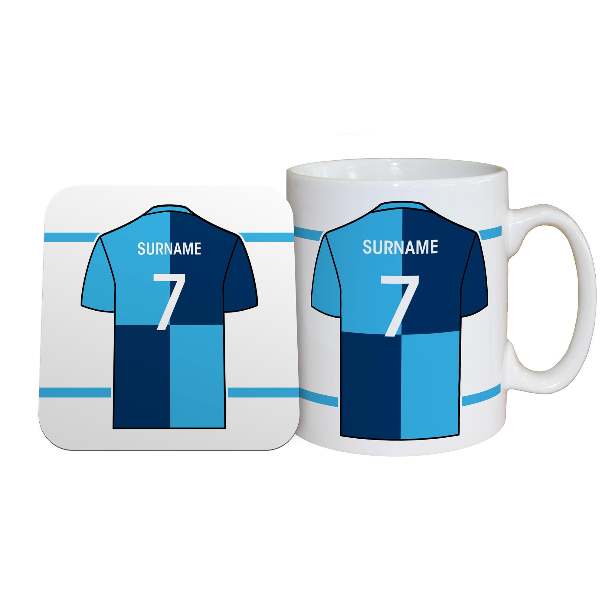 Wycombe Wanderers FC Shirt Mug & Coaster Set