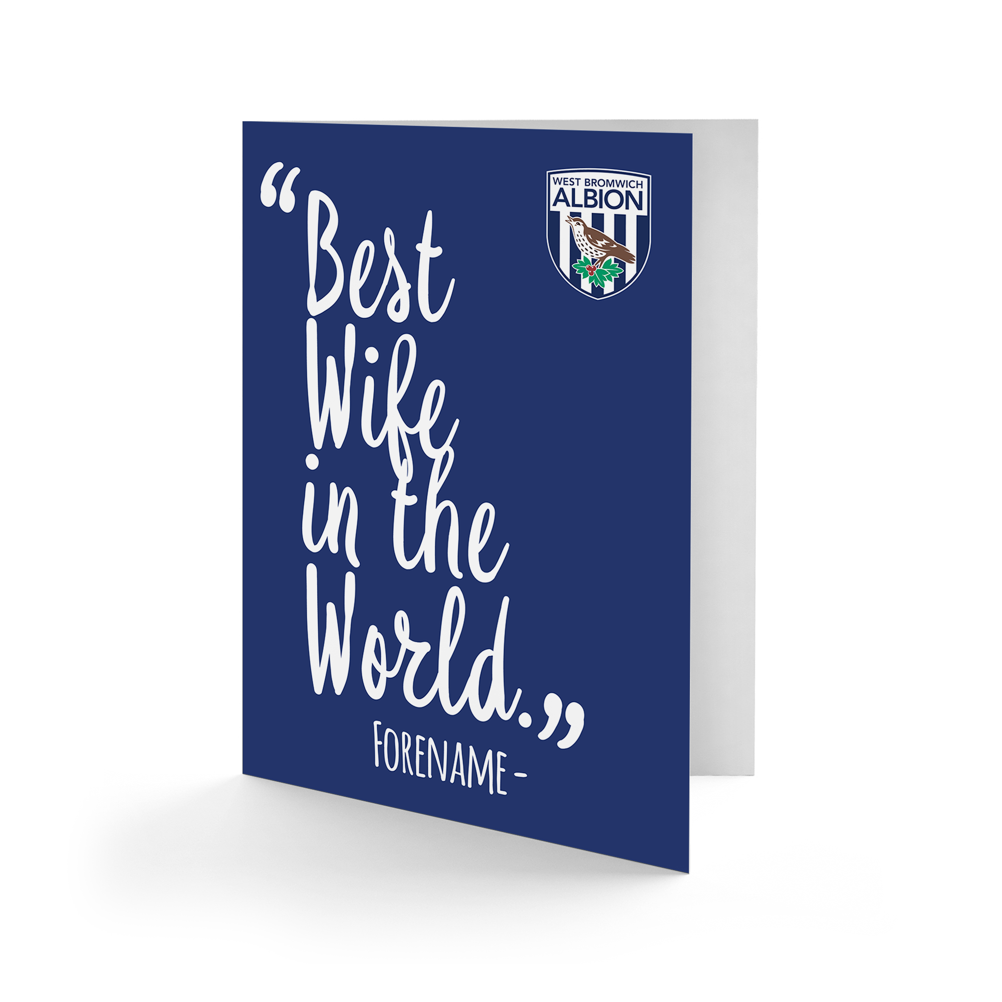 West Bromwich Albion FC Best Wife In The World Card