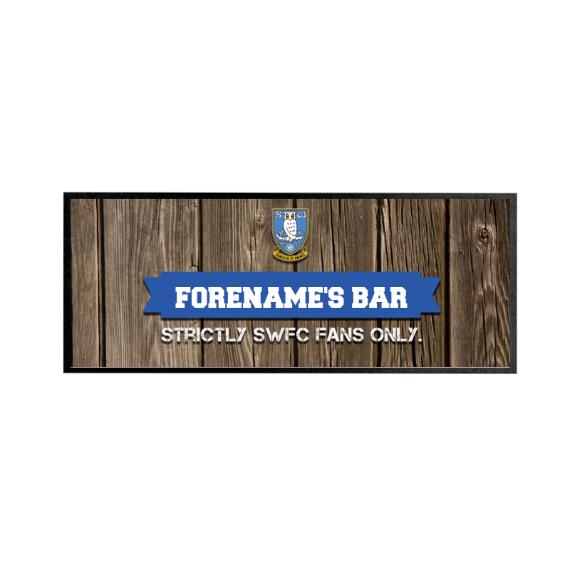 Sheffield Wednesday FC Wood Name Regular Bar Runner
