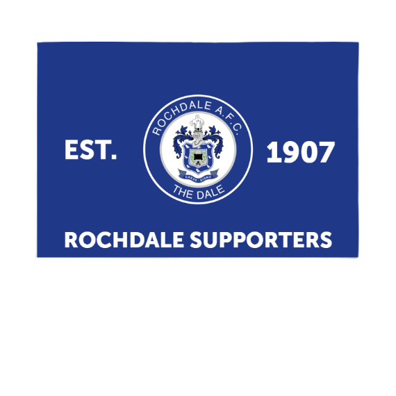 Rochdale AFC Supporters 6ft x 4ft Banner