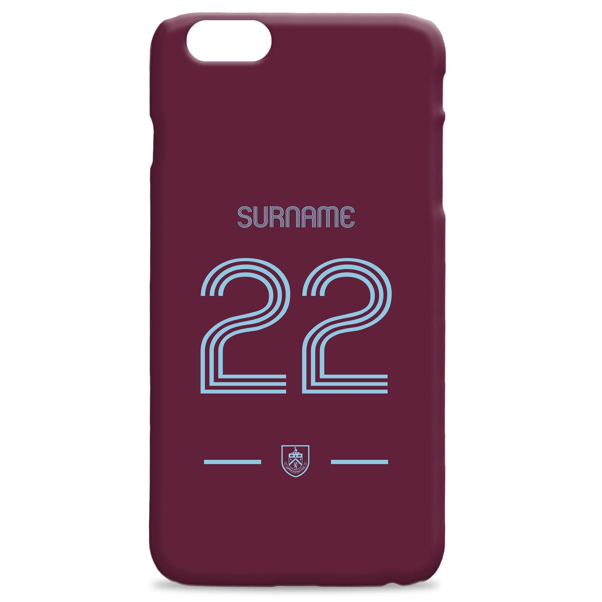 Burnley FC Retro Shirt Hard Back Phone Case