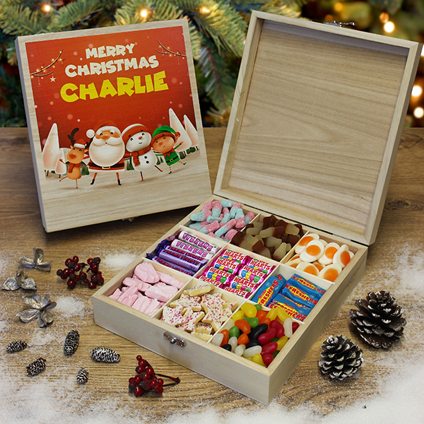Kids Christmas Wooden Sweet Box