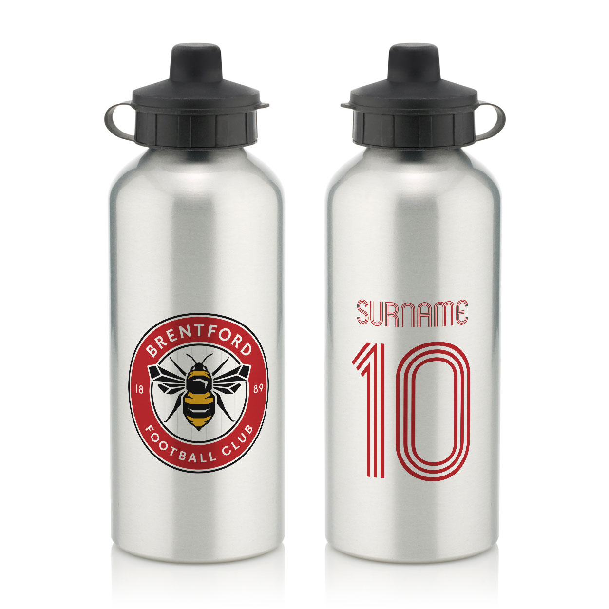 Brentford Retro Shirt Water Bottle