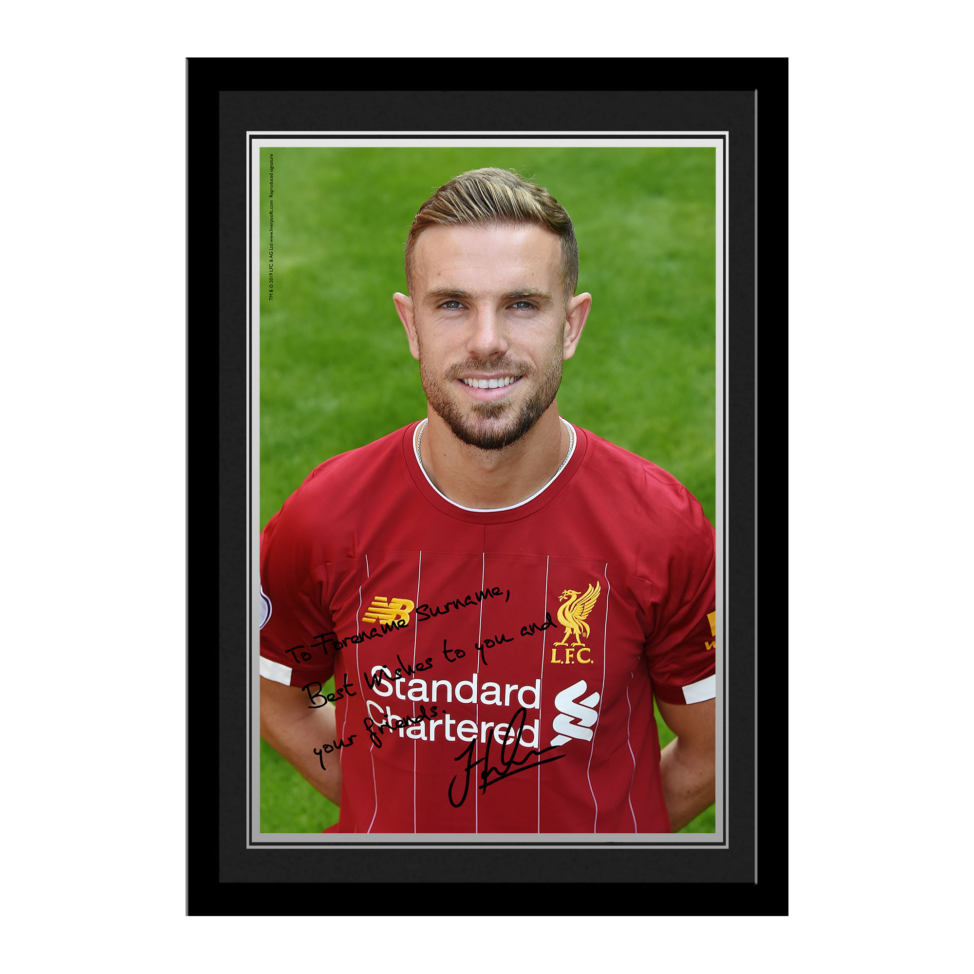 Liverpool FC Henderson Autograph Photo Framed