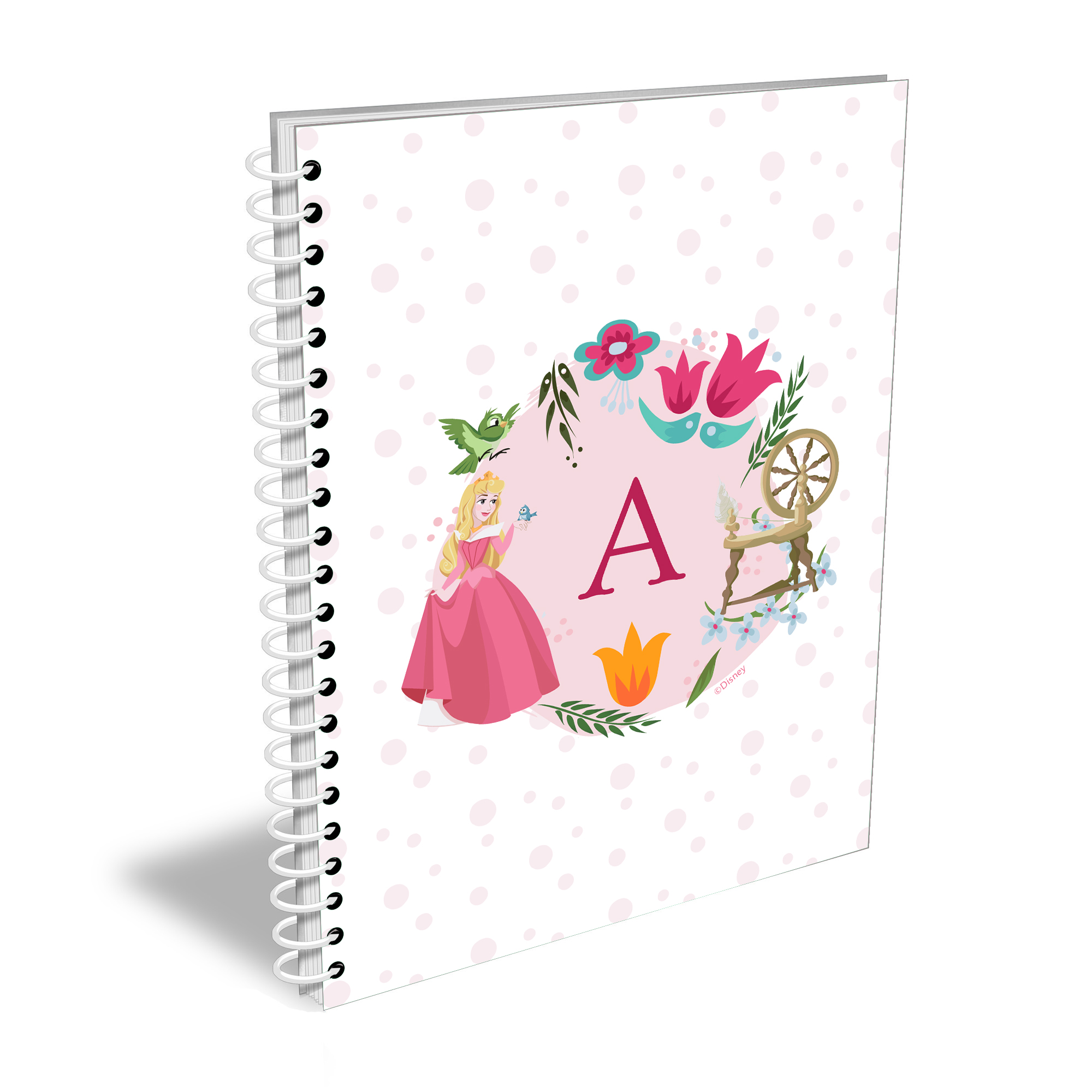 Disney Princess Aurora Initial A5 Notebook