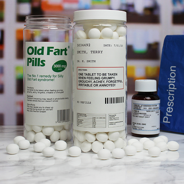 Old Fart Pill Pot