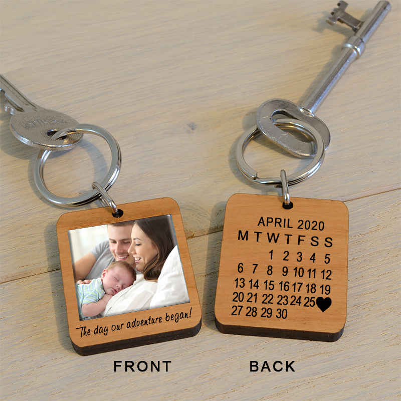 The Day Our Adventure Began Photo Key Ring