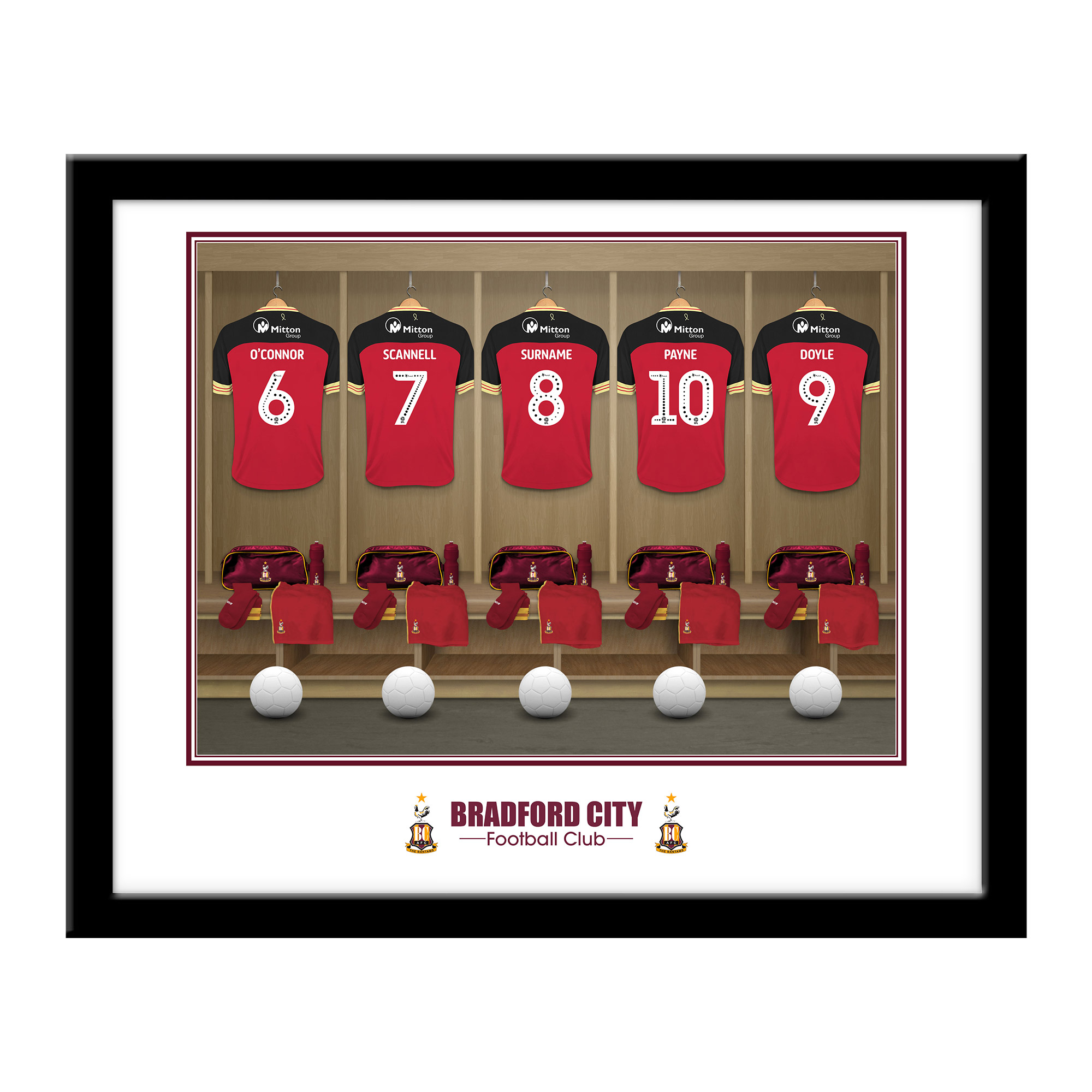 Bradford City AFC Dressing Room Framed Print
