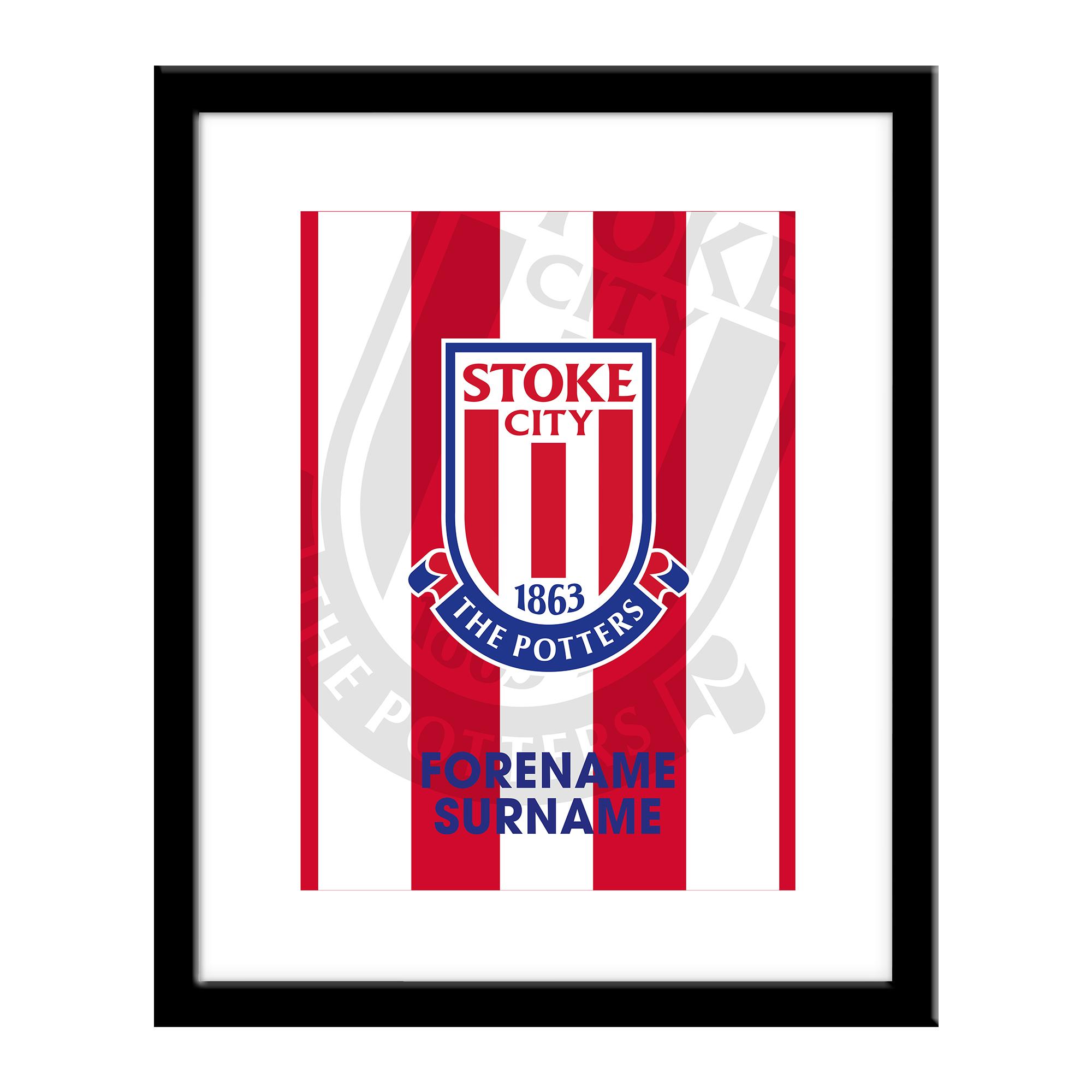 Stoke City FC Bold Crest Print