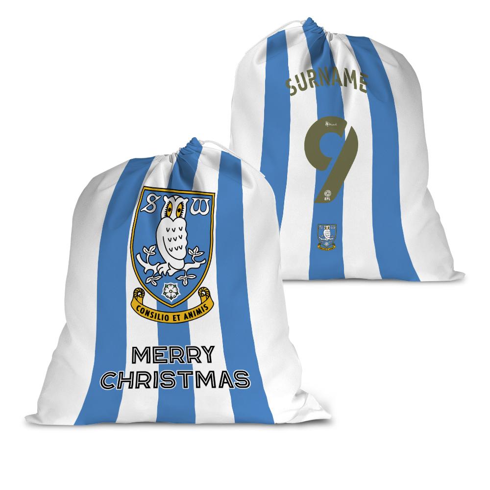 Sheffield Wednesday FC Back of Shirt Santa Sack