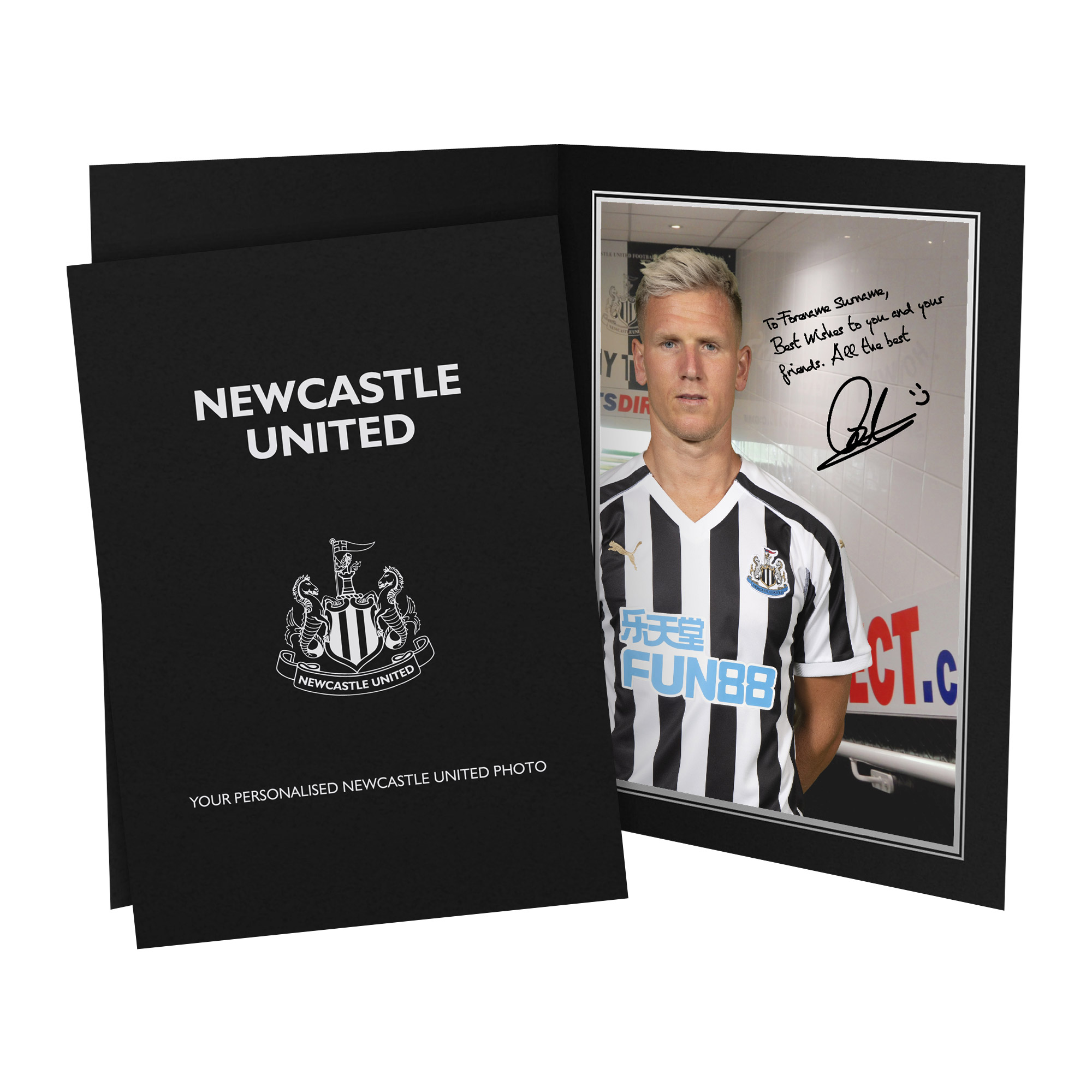 Newcastle United FC Ritchie Autograph Photo Folder