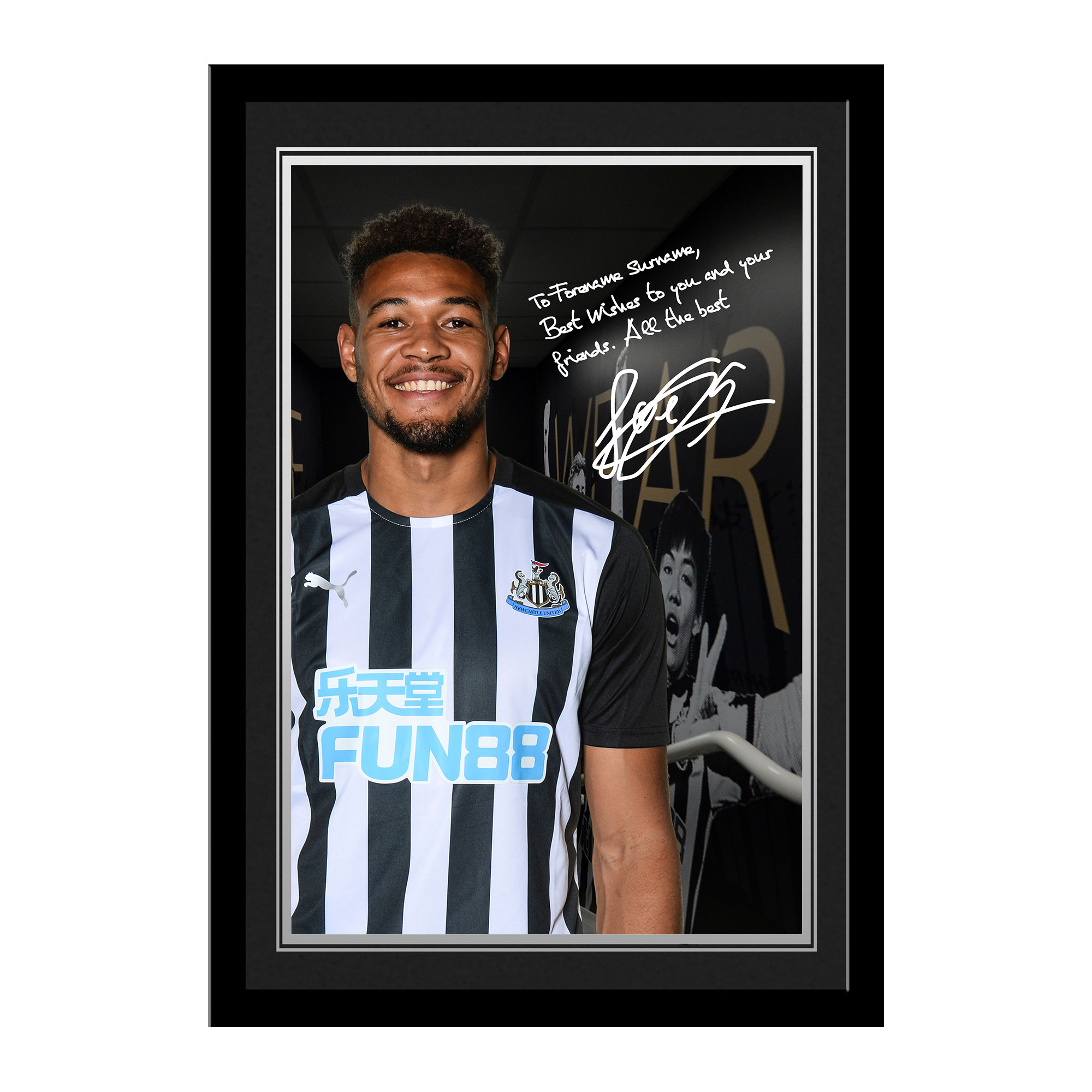 Newcastle United FC Joelinton Autograph Photo Framed