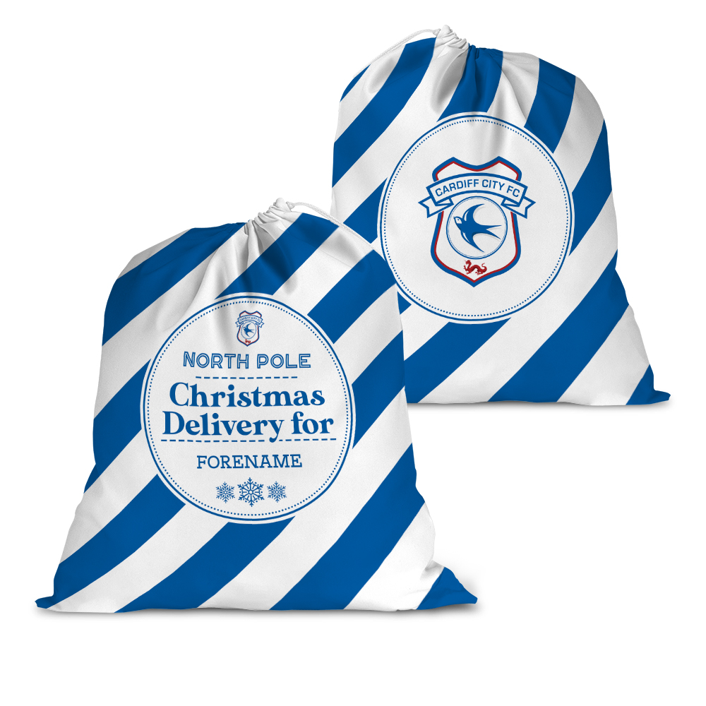 Cardiff City FC Christmas Delivery Santa Sack