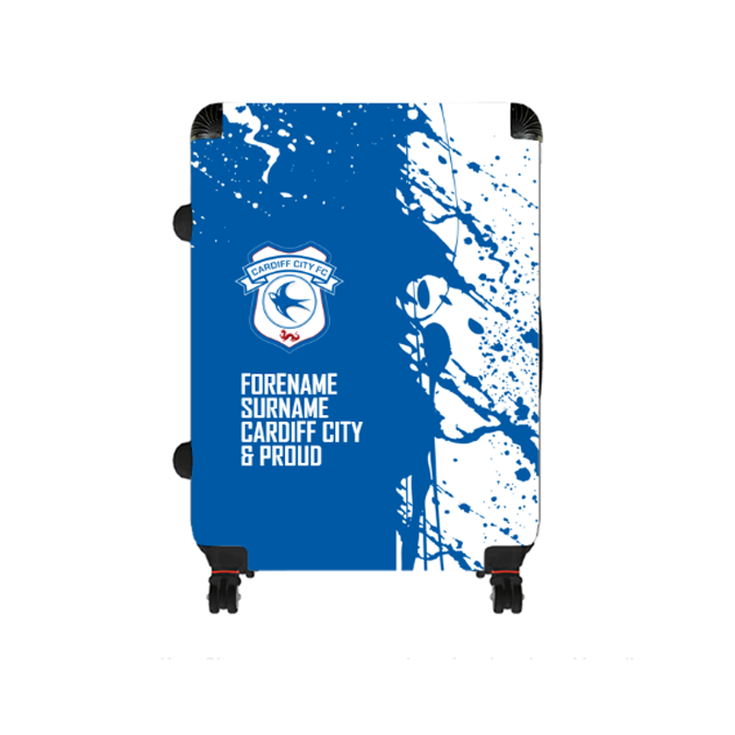 Cardiff City FC Proud Large Suitcase