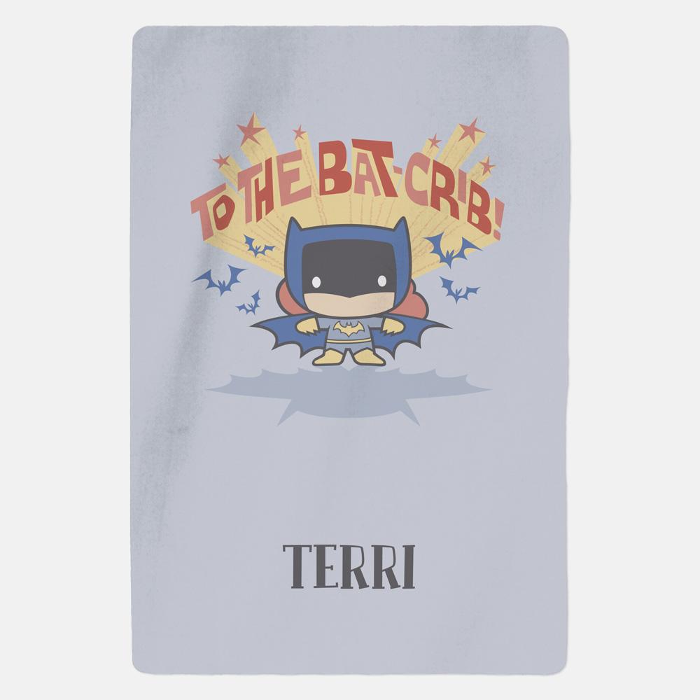 Batman™ Personalised Blanket - Bat Crib