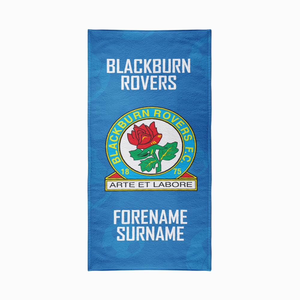 Blackburn Rovers FC Crest Design Towel - 80cm x 160cm